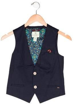 Scotch Shrunk Boys' V-Neck Button-Up Vest w/ Tags