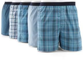 Hanes Men's Classics 5-pk. Full-Cut Plaid Woven Boxers
