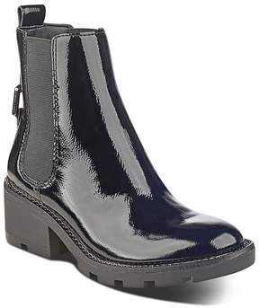 KENDALL + KYLIE Women's Porter Patent Leather Chelsea Booties