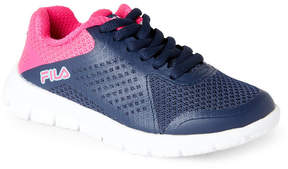 Fila Toddler/Kids Girls) Navy & Pink Faction Sneakers
