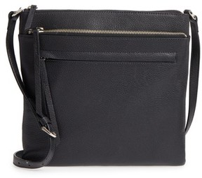 Nordstrom Finn Leather Crossbody Bag - Black