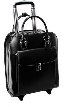 McKlein McKleinUSA Uptown 15.4 Leather Vertical Wheeled Laptop Briefcase