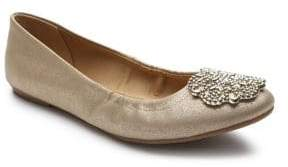 Tahari Venus Metallic Leather Ballet Flats