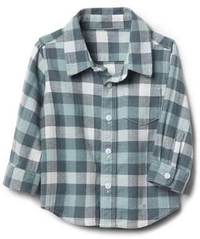Gap Plaid flannel long sleeve shirt