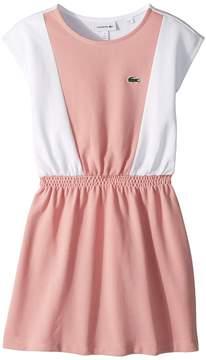 Lacoste Kids Sleeveless Petit Pique Bicolored Sport Inspired Dress Girl's Dress