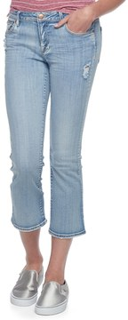Almost Famous Juniors' Ripped Kick Crop Jeans