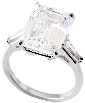FANTASIA Emerald Cut Cubic Zirconia Ring