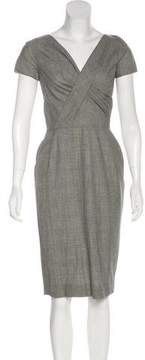 Christian Dior Plaid Sheath Dress