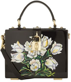 Dolce & Gabbana Plexiglass Tulip Top Handle Bag - BLACK - STYLE