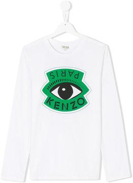Kenzo Eye logo print top