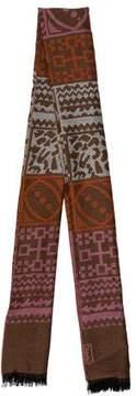 Saint Laurent Patterned Wool Scarf