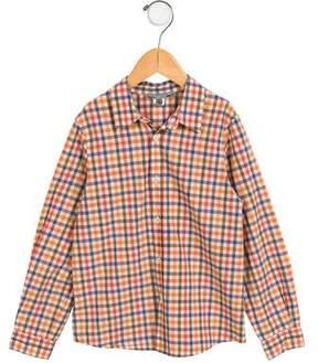 Bonpoint Boys' Gingham Button-Up Shirt