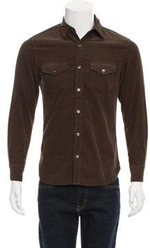 Frame Corduroy Button-Up Shirt
