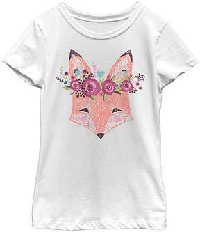 Fifth Sun White Woodsy Fox Tee - Girls