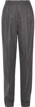 Michael Kors Collection - Pleated Wool And Cashmere-blend Tapered Pants - Dark gray