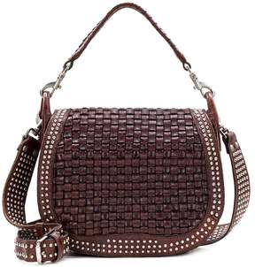 Patricia Nash Discovery Collection Washed Woven Acerra Saddle Bag