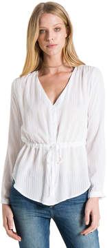 Bella Dahl Tie Waist Button Down-White-XS