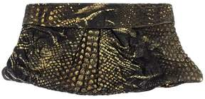 Lauren Merkin Black & Gold Metallic Clutch