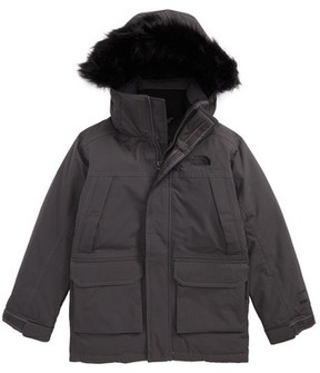 The North Face Boy's Mcmurdo Waterproof Down Parka With Faux Fur Trim
