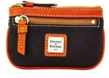 Dooney & Bourke Pebbled Leather Small Coin Case - CARAMEL - STYLE