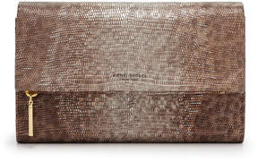 Henri Bendel Girls Night Out Embossed Lizard Clutch