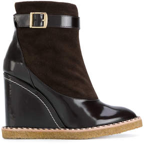 Paloma Barceló ankle length buckled boots