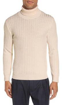 Eleventy Men's Ribbed Turtleneck Wool Sweater