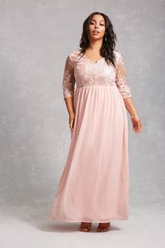 Forever 21 FOREVER 21+ Soieblu Chiffon Gown