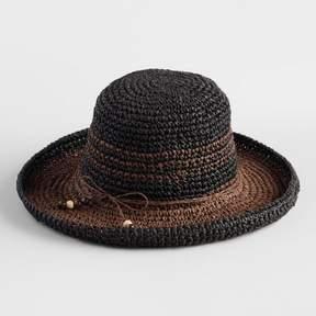World Market Black and Brown Bucket Hat