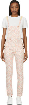 Roseanna Peach Floral Overalls