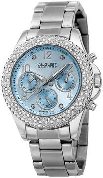 August Steiner Womens Silver Tone Strap Watch-As-8136sslb