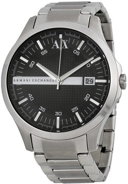 Armani Exchange Black Dial Stainless Steel Men's Watch