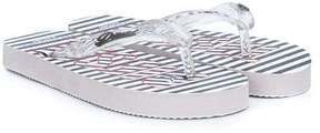 Diesel printed flip flops
