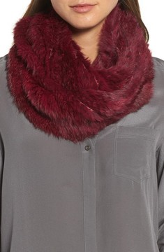 Jocelyn Women's Overdyed Genuine Rabbit Fur Infinity Scarf