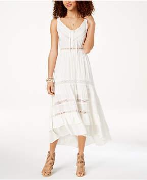 American Rag Juniors' Crochet-Trimmed Peasant Dress, Created for Macy's