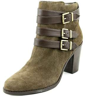 INC International Concepts Laini W Round Toe Suede Ankle Boot.