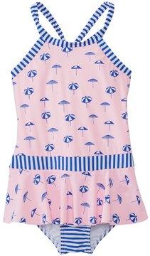 Seafolly Girls' Riviera Umbrella Ruffle Skirt One Piece Swimsuit (6mos7yrs) - 8137081