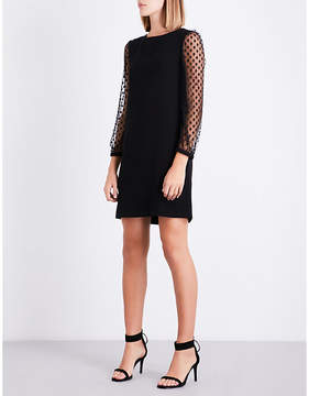 Claudie Pierlot Polka-dot tulle and crepe shift dress