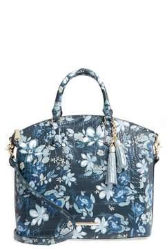 Brahmin Madeleines Large Duxbury Leather Satchel - Blue