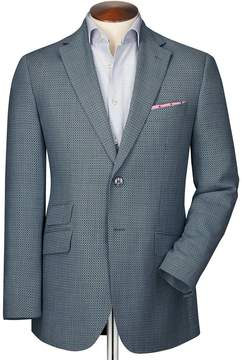 Charles Tyrwhitt Slim Fit Grey Birdseye Wool Wool Jacket Size 36