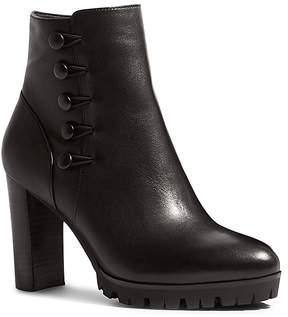 Karen Millen Women's Leather Platform Booties