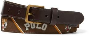 Ralph Lauren Polo-Overlay Webbed Belt