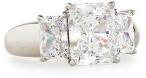 FANTASIA Wide-Shank Triple Radiant-Cut CZ Crystal Ring