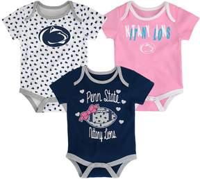 NCAA Baby Penn State Nittany Lions Heart Fan 3-Pack Bodysuit Set