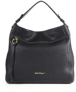 Salvatore Ferragamo Amy Leather Hobo Bag