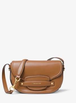 MICHAEL Michael Kors Cary Medium Leather Saddle Bag