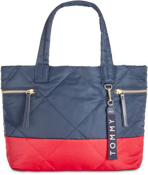 Tommy Hilfiger Quilted Colorblocked Satchel