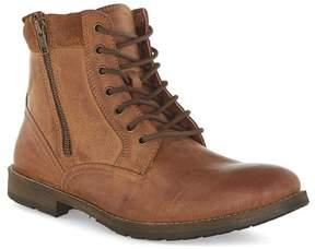 Topman Tan Leather Zip Boots
