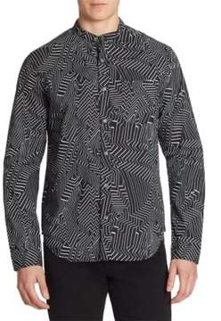 Saks Fifth Avenue x Anthony Davis Printed Casual Button-Down Shirt