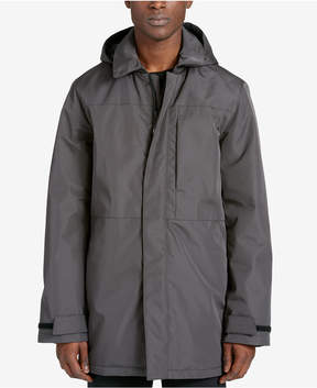DKNY Men's Full-Length Raincoat with Removable Hood